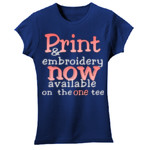 Print and embroidery combination