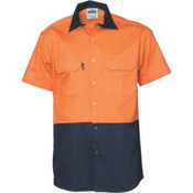 HiVis Cotton Drill Shirt 3831