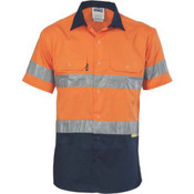 HiVis Two Tone Cotton Shirt with 3M 8910 R/Tape 3833