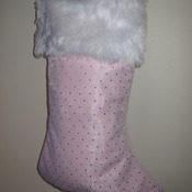 Pink Christmas Stocking