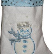 Blue Christmas Stocking