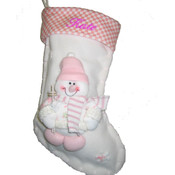 Pink Personalised Christmas Stocking