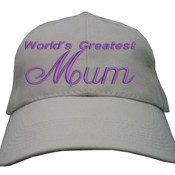 For Mum - Heavy Brushed Cotton Cap