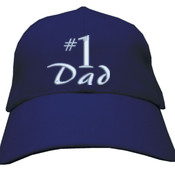 #1 Dad - Heavy Brushed Cotton Cap