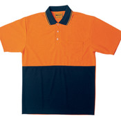 Hi-Vis Polyface/Cotton Back Polo