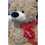 Valentines Teddy Bear - heart Personalised