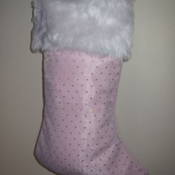 Pink Christmas Stocking Thumbnail