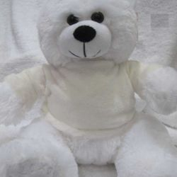 Personalised White Teddy Thumbnail