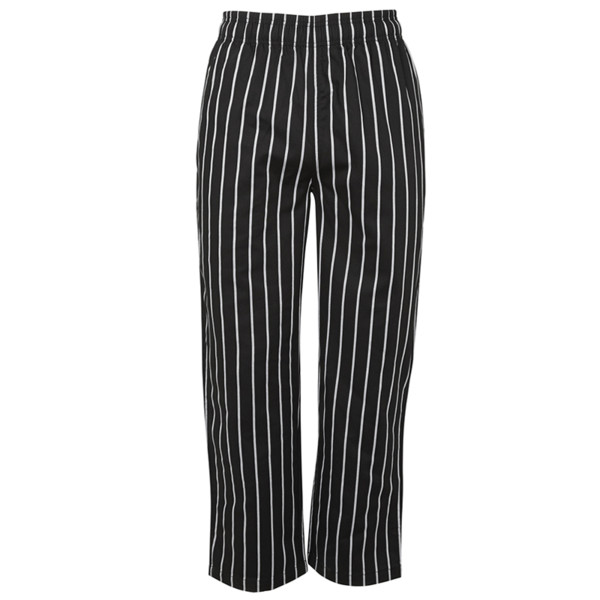 Striped Chef's Pant Black/White Embroidery, Custom T shirt Printing