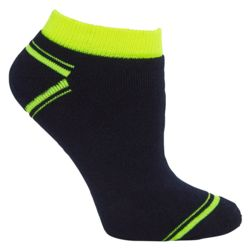 JB's Ankle Sock (3 Pack) Black/Lime KING Thumbnail