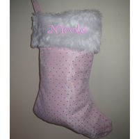 Personalised Christmas Stocking Pink Thumbnail