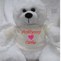 Personalised Valentines Teddy Thumbnail