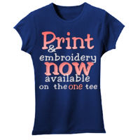 Print and embroidery combination Thumbnail